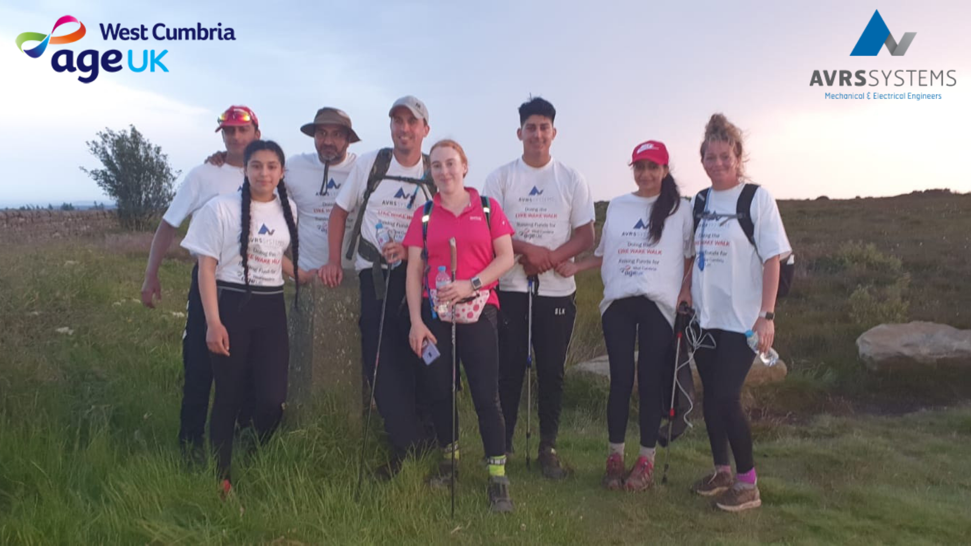 This image is of AVRS team members who completed the Lyke Wake Walk