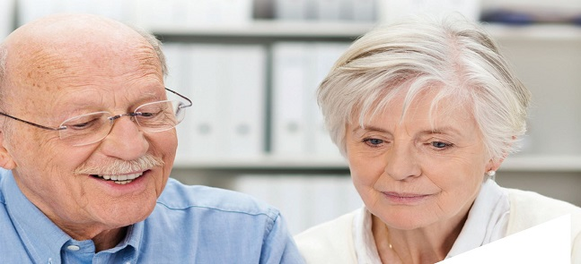 image of two older people