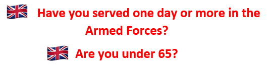 Are you under 65?  Have you served one day in the Armed Forces?