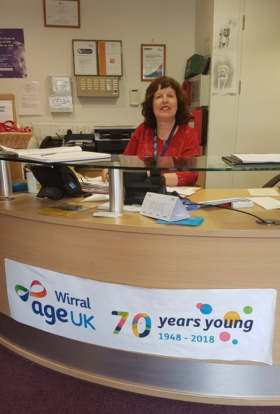 Lesley on reception at the Devonshire Resource Centre