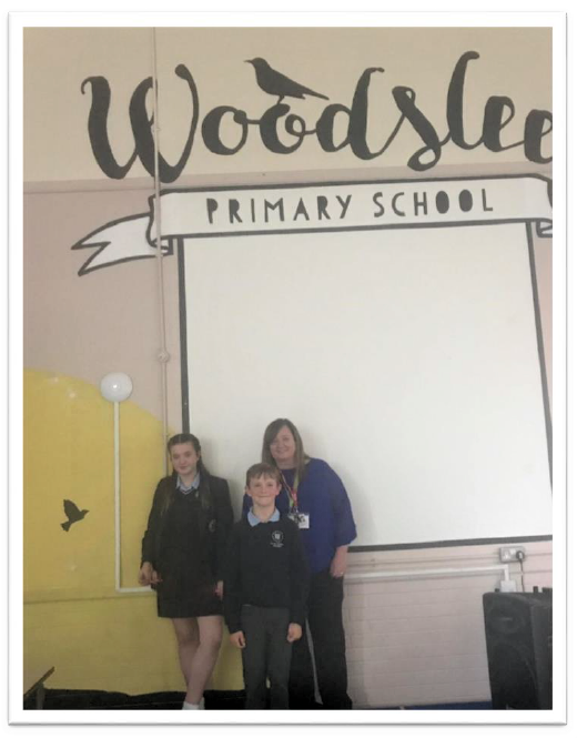 We visited Woodslee Primary School