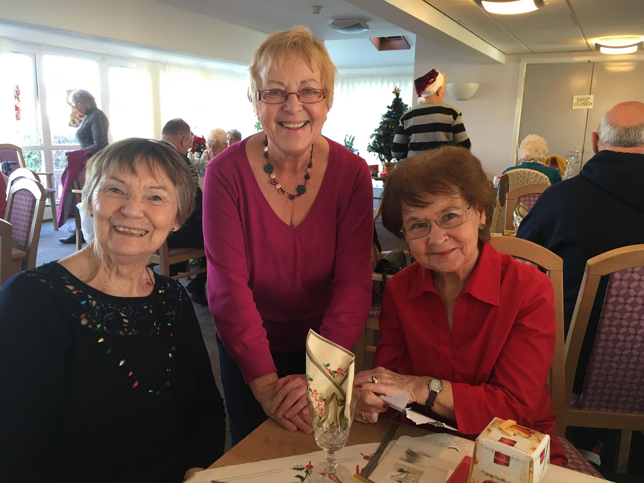 Group of older ladies enjoying our lunch club.