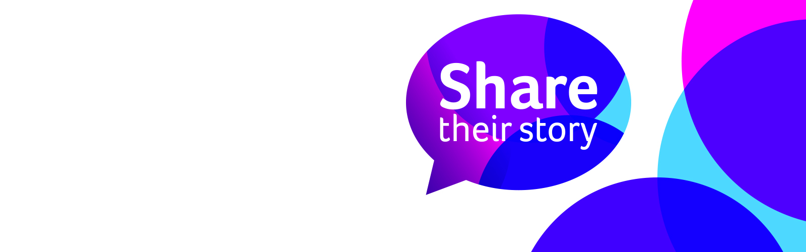 Share their story logo