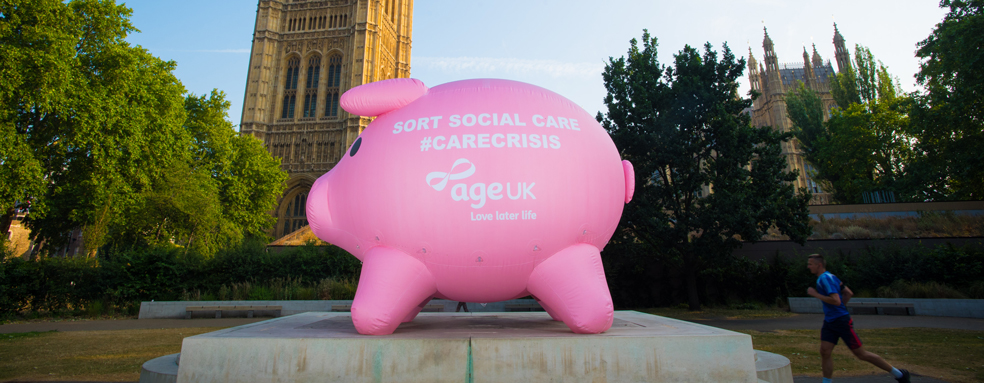 'Penny the Inflatable Piggy Bank - Age UK