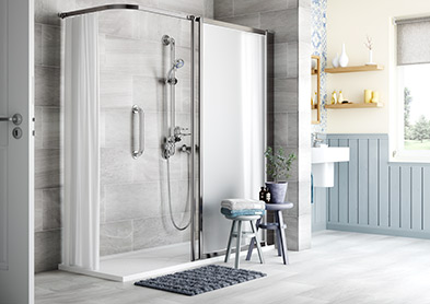 The Gordale walk-in shower