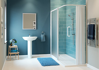 Hardraw easy access shower