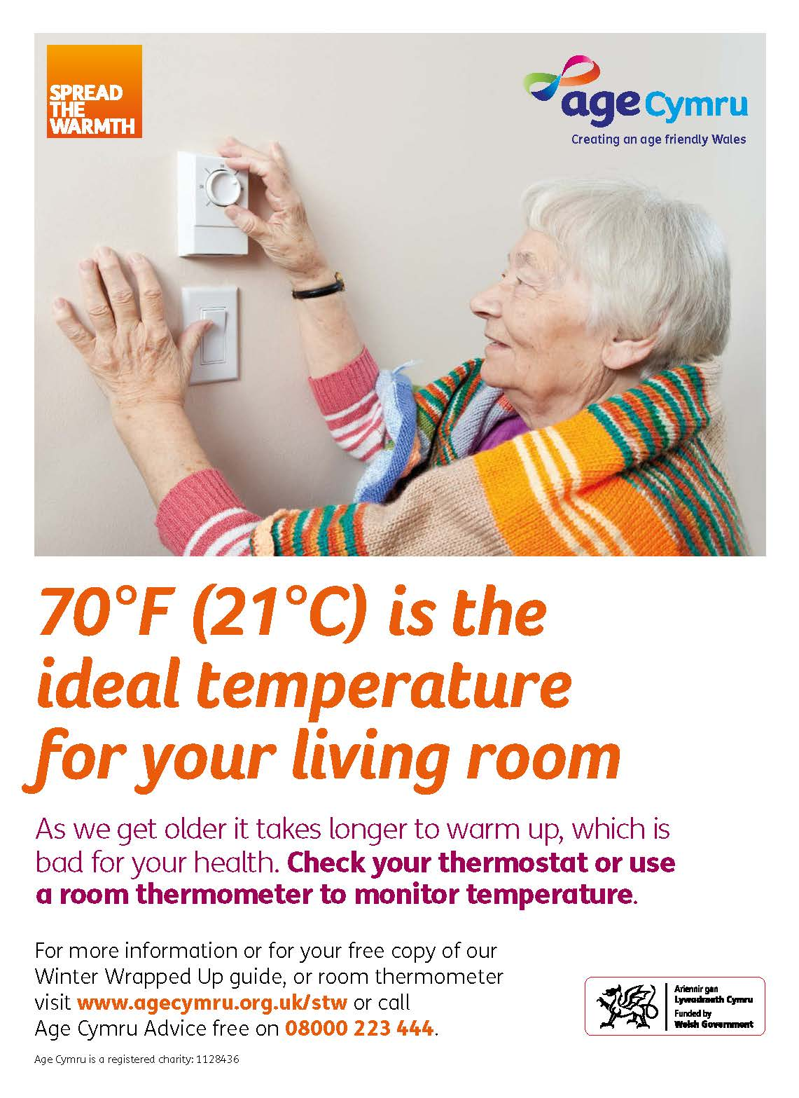 Poster Ideal Temperature For Your Living Room English