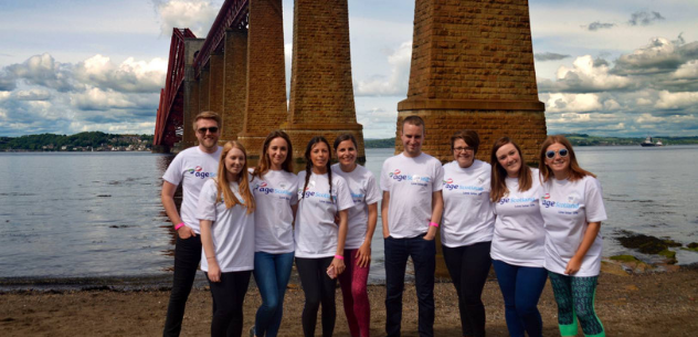 Morton Fraser team at the 2017 Forth Rail Bridge Abseil