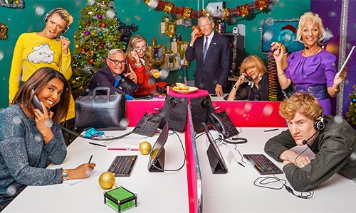 All 8 celebrities manning the phones for Celebrity Call Centre