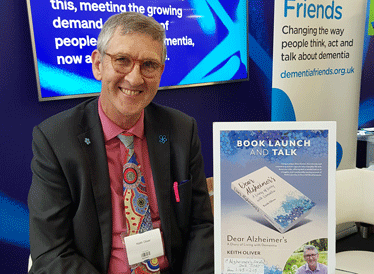 Keith Oliver, who has dementia, at the Alzheimer's show