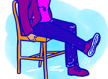 An illustration of someone doing chair exercises