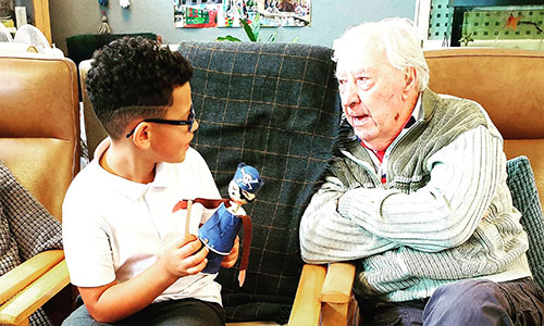 Intergenerational puppetry